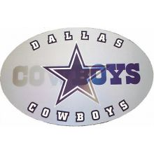 "Dallas Cowboys 3-D 9"" X 6"" Oval Ultradepth Hologram Magnet"