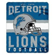 "Detroit Lions 50"" x 60"" Singular Fleece Throw Blanket"