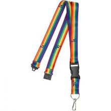 Los Angeles Dodgers Breakaway Rainbow Lanyard Keychain