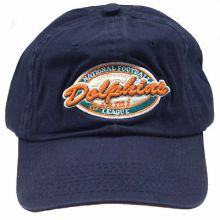 Miami Dolphins Navy Adjustable Hat Cap Lid