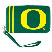 "Oregon Ducks Distressed Wallet Wristlet Case (3.5"" X .5"" X 6"")"