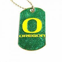 Oregon Ducks Glitter Dog Tag Necklace