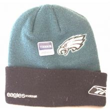 NFL Licensed Philadelphia Eagles Women's 6 Stripe Beanie