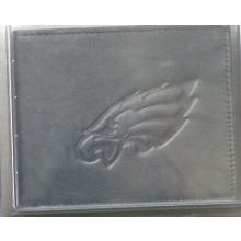 Philadelphia Eagles Black Leather Bi-Fold Wallet