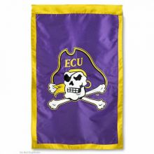 "East Carolina Pirates Double Sided 28"" X 44"" Applique Flag"