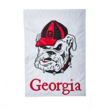 "Georgia Bulldogs  12.5"" x 18"" Two Sided Applique Garden Flag"