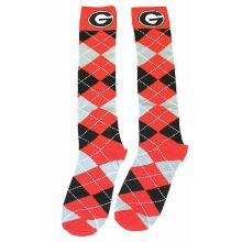 Georgia Bulldogs Argyle Dress Socks