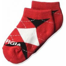 Georgia Bulldogs Baby Argyle  No Show Ankle Socks