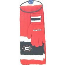 Georgia Bulldogs Knit Scarf and Glove Set