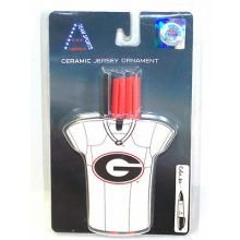 Georgia Bulldogs Personalizable Jersey Ornament with Team Color Markers