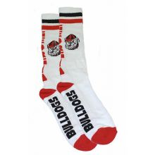 Georgia Bulldogs Tube Socks White