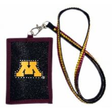 Minnesota Golden Gophers Beaded Lanyard I.D. Wallet