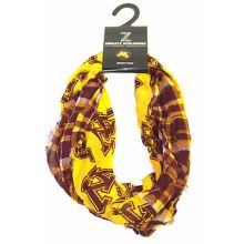 Minnesota Golden Gophers Tartan Plaid Infinity Scarf