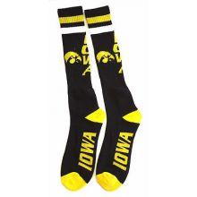 Iowa Hawkeyes Tube Socks Black