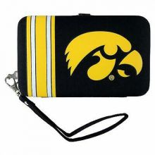 Iowa Hawkeyes Distressed Wallet Wristlet