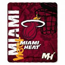 NBA Miami Heat Hardknocks Fleece Throw Blanket