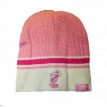 Miami Heat Pink White Tip Classic Knit Beanie