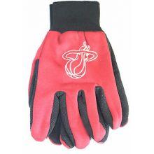 Mens Miami Heat Foil Print Gloves - Red