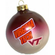 Virginia Tech Hokies Small Painted Round Ornament