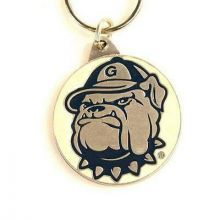 Georgetown Hoyas Oval Carved Metal Keychain