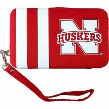 Nebraska Cornhuskers Distressed Wallet Wristlet