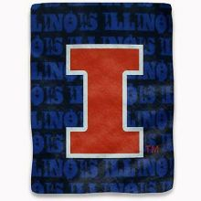 Illinois Fighting Illini Super Plush Repeater Throw Blanket