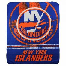 "NHL Officially Licensed New York Islanders  Shadow Fleece Throw Blanket (50"" x 6"