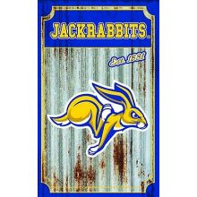 South Dakota State Jackrabbits Corrugated Metal Ornament
