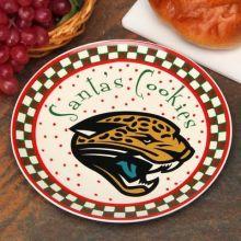 Jacksonville Jaguars Ceramic Santa Cookie Plate