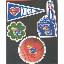 Kansas Jayhawks 4 Piece Magnet Set