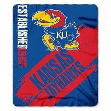 Kansas Jayhawks Established  Fleece Throw Blanket