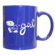 Kansas Jayhawks Team Color Jayhawks Girl 12oz Mug