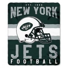 "New York Jets 50"" x 60"" Singular Fleece Throw Blanket"
