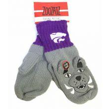 Kansas State Wildcats Knit Mascot Texting Mittens