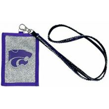Kansas State Wildcats Beaded Lanyard I.D. Wallet