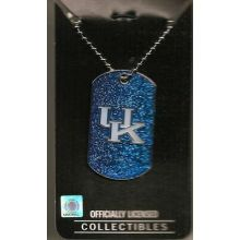 Kentucky Wildcats Glitter Dog Tag Necklace