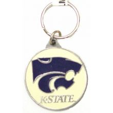 Kansas State Wildcats Oval Carved Metal Keychain