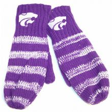 Kansas State Wildcats Striped Mittens