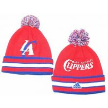 Los Angeles Clippers Double Sided Cuffed Pom Beanie Hat Cap Lid