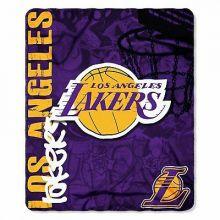 NBA Los Angeles Lakers Hardknocks Fleece Throw Blanket