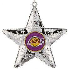 "L A Lakers 4"" Silver Star Ornament"
