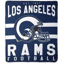 "Los Angeles Rams 50"" x 60"" Singular Fleece Throw Blanket"