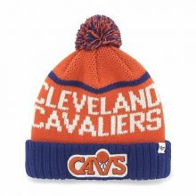 Cleveland Cavaliers '47 Brand Linesman Knit Pom Cuffed Embroidered Beanie Hat Ca