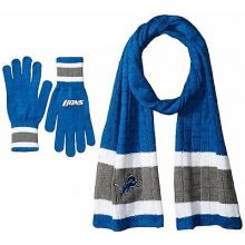 Detroit Lions Cold Weather Knit Scarf and Glove Set