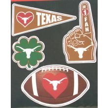 Texas Longhorns 4 Piece Magnet Set