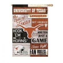 Texas Longhorns Vertical Linen Fan Rules Garden Flag