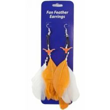 Texas Longhorns Fan Feathers Earrings