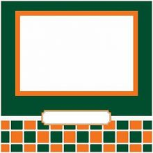 "Miami Hurricanes 8"" X 8"" Complete Scrapbook Kit"
