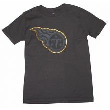 NFL Officially Licensed Tennessee Titans Reflective Gold Outline Logo Black Yout