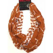 Texas Longhorns Striped 2 Tone Infinity Scarf